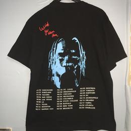 Мужская уличная футболка онлайн-Футболка Трэвис Скотт Мужчины Женщины Хип-Хоп Уличные Футболки Хлопок Высокого Качества Канье Уэст Трэвис Скотт Футболка