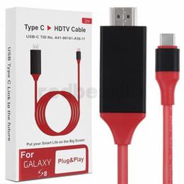sas жесткий диск Скидка 2 м USB 3.1 USB C к HDMI кабель Type-C к HDMI конвертер 4K 30 Гц HD внешний Видео Графика удлинить кабель / адаптер