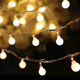 string lights connectors Promo Codes - 10M 100 LEDs Decorative String Light Round Ball Shaped Holiday Party Light