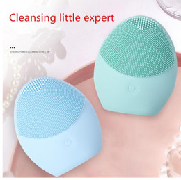 Wholesale Новая очищающая щетка для лица Sonic Vibration Mini Face Cleaner Силиконовая глубокая очистка пор Электрический водонепроницаемый инструмент для мытья кожи