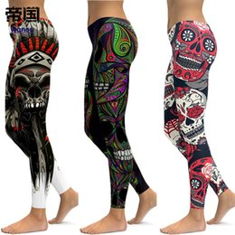 ecff1eb98ffe9 Skull Leggings Yoga Pants Women Sports Pants Fitness Running Sexy Push Up Gym  Wear Elastic Slim Workout Leggings