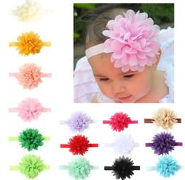 vendas del arco del pelo para los bebés Rebajas Hot Infant Flower Headbands Girl Lace Headwear Kids Baby accesorios de fotografía NewBorn Bow Accesorios para el cabello Bebé bonito cintas para el cabello
