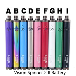2019 kangertech ego kit Vision Spinner 2 II Batterie 1650mAh Ego C Twist Variable Voltage VV 3.3-4.8V Batterie für elektronische Zigarette Für Ego Thread Zerstäuber