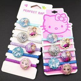 2020 bambole congelate congelate 6pcs del fumetto congelato capelli corda Aisha capo del cerchio dell'anello bambola accessori Ragazze regalo di compleanno Headwear Cosmetic Toy Rubber Band sconti bambole congelate congelate