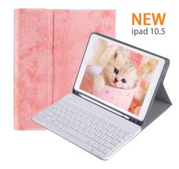 tampa do ipad da prova do choque dos miúdos Desconto Caso de teclado do iPad para iPad Air10.5 polegadas 3 Gen, iPad Pro 10,5 suporte com teclado destacável sem fio, Smart Auto da tampa do sono