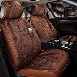 fundas de asiento de coche duraderas Rebajas Accesorios de coche de ajuste universal Fundas de asientos para camiones Diseño de envolvente completo Cuero duradero de PU Fundas de cinco asientos ajustables para Ford Serie F