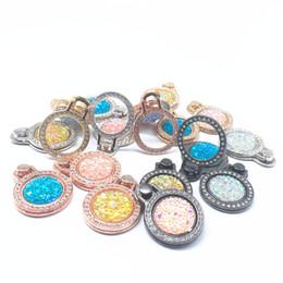 grad-klammer Rabatt Diamant Bling Metalltelefonhalter Finger-Ring-Halter 360 Grad Handy-Standplatz-Klammer für iphone 7 8 x xr xs Samsung adnroid Telefon