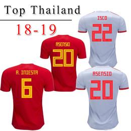 camiseta españa MORATA ASENSIO maillot de foot Espagne 18 18 RAMOS ISCO SILVA INIESTA maillot de football maillot de football camisetas de futbol ? partir de fabricateur