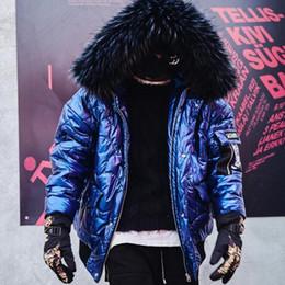 cappotto di pelliccia blu cappotto uomini Sconti Nuovo parka blu 2018 uomini di spessore inverno caldo cappotto di alta qualità cappuccio di pelliccia uomo sportivo bomber con cappuccio giacche cappotto di neve per l'uomo