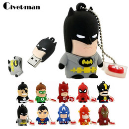 2019 eisen mann fahren Top verkauf Billig preis Cartoon Superheld USB Flash Drive 8 GB 16 GB 32 GB 64 GB Iron Man Flash Speicher Batman Pendrive rabatt eisen mann fahren