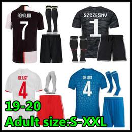 2019 ronaldo jersey giovani 2019 2020 maglie di calcio kit migliore qualità 19 20 Camisetas Futbol Camisas Maillot calcio shirt uniformi del corredo S- XXL