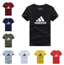 2019 camiseta ultra delgada blanca Nueva moda para hombres y mujeres Camiseta informal de impresión de verano Ropa de manga corta Tops Niños y niñas Camisetas A22127