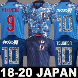 Giappone calcio online-Japan Maglia da calcio 2018 cartoon number font soccer jersey football shirts 10 ATOM world cup Tsubasa KAGAWA ENDO squadra nazionale OKAZAKI NAGATOMO HASEBE KAMAMOTO top qualità Thailandia