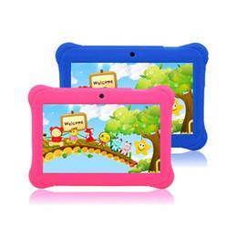Tablet dual sim quad core on-line-7 '' polegadas Quad Core HD Tablet para Crianças Android 4.4 KitKat Dual Camera WiFi