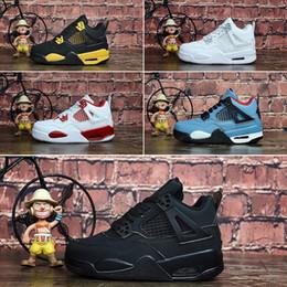 Nike Air Jordan 4 Bambini 4 6 Scarpe da basket all'ingrosso Nuovo 1 spazio marmellata J4 J6 6s Sneakers bambini Sport Running girl scarpe da ginnastica J4 scarpe 28-35 da
