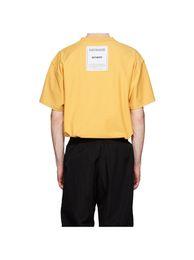 Deutschland Frühling Sommer 2019 Luxus Vetements Zurück Patch Hohe Qualität T-shirt Mode Männer Frauen Tragen Inside-Out T-shirt Casual Baumwolle T Top Versorgung