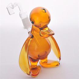 2019 tubos baratos baratos Amber presente pequeno pato cachimbo imagens reais 100% Dab plataformas de petróleo difusor Downstem portátil Mini Bongos de vidro cachimbos de água cachimbo de água