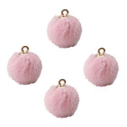 10 unids / lote 18 * 16 mm moda bola de peluche encantos bola de pelo de color oro azul marino moda DIY pendiente joyería de los accesorios que hace desde fabricantes