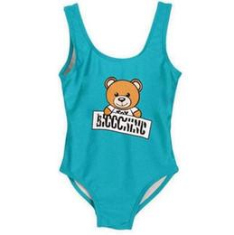 Ropa de gama alta online-2019 nueva marca de Ins mejor venta de gama alta de una pieza de bebés monos trajes de baño de impresión carta traje de baño niños playa ropa