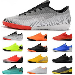 mercurial football shoes Coupons - 2019 New Mercurial Vapores X XII Academy IC Mens Soccer Shoes World Cup Soccer Cleats Ronaldo Neymar ACC Football Boots botines futbol