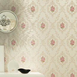2019 papel pintado moderno de lujo Papel pintado no tejido moderno de lujo del damasco 3D Papel pintado de la pared Dormitorio Sala de estar Papeles pintados Rollo rebajas papel pintado moderno de lujo