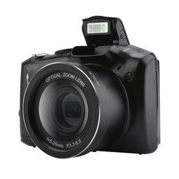 Lentes de cámara de video digital online-Cámara réflex digital de 3,5 pulgadas Pantalla de visualización de 24 megapíxeles Cámara micro réflex digital 5x Zoom óptico Cámara de video digital HD lente gran angular