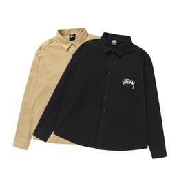 Stussy de lujo para hombre diseñador de camisas casuales de moda para hombre camisas de verano de alta calidad hombres mujeres polos tamaño M-XL desde fabricantes