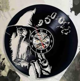 2019 Relógio de Parede de Vinil Preto Design Moderno Clássico Relógios de CD Relógio De Parede De Vinil Home Decor Witch Design Especial de