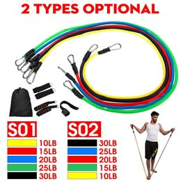rope exercise Coupons - 11pcs set Pull Rope Fitness Exercises Resistance Bands Latex Tubes Pedal Excerciser Body Training Workout Elastic Band