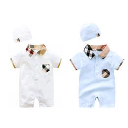 Kleinkind kleider jungen 24 monate online-babykleidung 100% baumwolle kurzarm sommer mädchen jungen babyspielanzug kleinkind säugling 0-18 monate kleidung