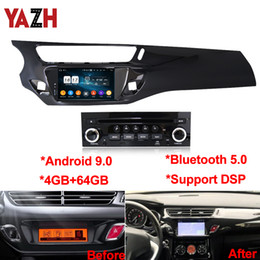 carro rádio gps wifi hyundai Desconto Android 9.0 4 + 64GB Car Radio DVD multimídia para Citroen C3 DS3 2010 2012 2011 2013 2014 2015 2016 Navegação GPS DSP Unidade Principal