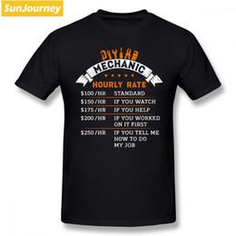 2019 magliette meccaniche Funny Mechanic Hourly Rates T Shirt da uomo Pop Family 4XL 5XL 6XL Camicia da uomo in cotone personalizzata a manica corta magliette meccaniche economici
