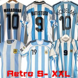 Maillot de foot argentin messi en Ligne-Coupe du monde 1986 Retro Version Argentine Accueil Maillot de football Messi Maradona CANIGGIA 1978 1996 Football Shirt Batistuta 1998 RIQUELME 2006