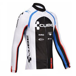 cube bicycle black Coupons - 2019 CUBE team Cycling long Sleeves jersey quick dry breathable long sleeve T shirt mens bicycle clothes tops