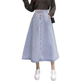 4d79b67dd8 new fashion skirt jeans Coupons - 2019 New Spring Summer Women s Denim  Skirts Blue High Waist
