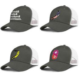 Classic Baseball Cap,The Velvet Underground Adjustable Two Tone Cotton Twill Mesh Back Trucker Hats Black