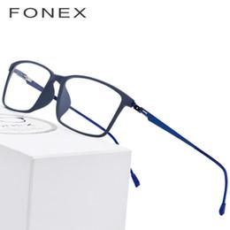 i telai di vetro all'ingrosso di moda Sconti Titanio TR90 lega i vetri della pagina di vetro Uomini miopia degli occhi occhiali di prescrizione di 2018 coreana senza viti Montature Eyewear 9855