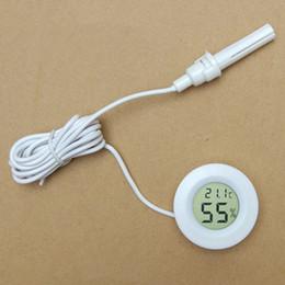 mini congeladores Rebajas Termómetro con medidor de línea Higrómetro Humedad Mini integrado para congelador Refrigerador LCD electrónico