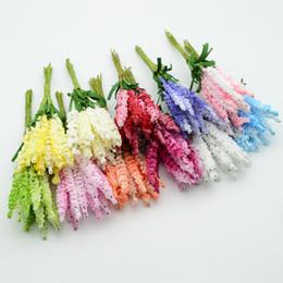 Vaso di natale diy online-10pcs pe schiuma di lavanda accessori per la decorazione di nozze per il natale falso floristica vasi diy corona regali fiori artificiali
