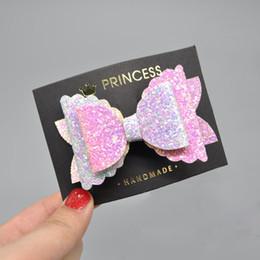Canada Cheveux multicolores arc-en-ciel arc-en-ciel attachés sur des clips Bling Bling Pastel Glitter Girls épingles à cheveux Party Dance Accessoires de cheveux Offre