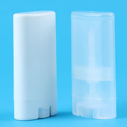 deodorant containers Promo Codes - 15g Plastic Empty DIY Oval Lip Balm Tubes Portable Deodorant Containers Clear White Lipstick Fashion Cool Lip Tubes LX5665
