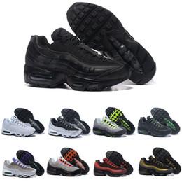 sapatos esportivos de cor preta Desconto Nike Air Max 95 Bom Neon Men'Running Sapatos Para As Mulheres Tênis Esportista 97 Designer Trainer Preto Branco Cores de Vendas Quentes