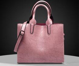 сумки женщины плечо сумка через плечо женская повседневная большие тотализаторы высокое качество искусственной кожи дамы бродяга сумки универсальный простой от