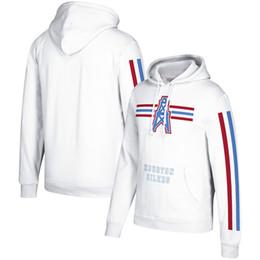 2019 hoodie das listras brancas 2019 Houston Três Equipe Stripe pulôver Oilers clássico Pullover Casacos tamanho branco S-4XL frete grátis hoodie das listras brancas barato