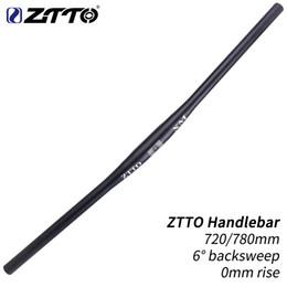manillar plano mtb Rebajas ZTTO XM MTB manillar de la bicicleta Negro manillar 720 mm 780 mm 31,8 mm de aleación de aluminio plana barra recta tubo grueso de 6 grados backsweep