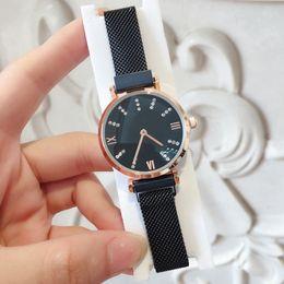 relógios magnéticos Desconto Alta qualidade de Moda relógios de luxo para as mulheres relógios de ouro rosa de Aço Inoxidável pulseira preta vestido feminino relógio Ímã fivela Relógios De Pulso