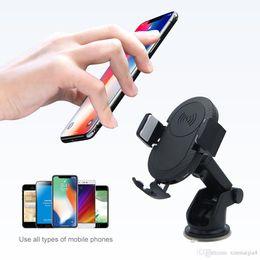 suporte de telefone para pára-brisas do carro Desconto Qi Carregador de Carro Sem Fio Magnético Pad Transmissor Dock Air Vent Suporte Windscreen Titular Suporte de Telefone de Carregamento Rápido de Velocidade