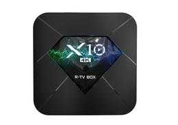 R box tv en Ligne-R-TV BOX X10 Smart TV Box 2GB 16GB 905W Android 7.1 Quad Core Set Top Box 2.4G WiFi 4K Lecteur multimédia PK X96 X96W
