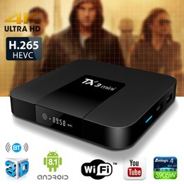 2019 android tv box 16gb Android 8.1 Android TV Box TX3 Mini с Bluetooth 4K 1080P IPTV Потоковое S905W 1 ГБ / 2 ГБ 16 ГБ Smart TV Box дешево android tv box 16gb