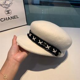 2019 boina roja militar Lana elegante de señora Women fieltro clásico francés de la boina del casquillo del sombrero Beanie Slouch Tam